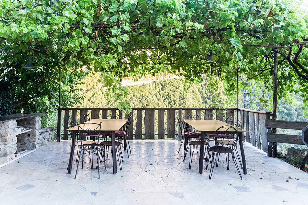 terrasse extérieur gite location vercors