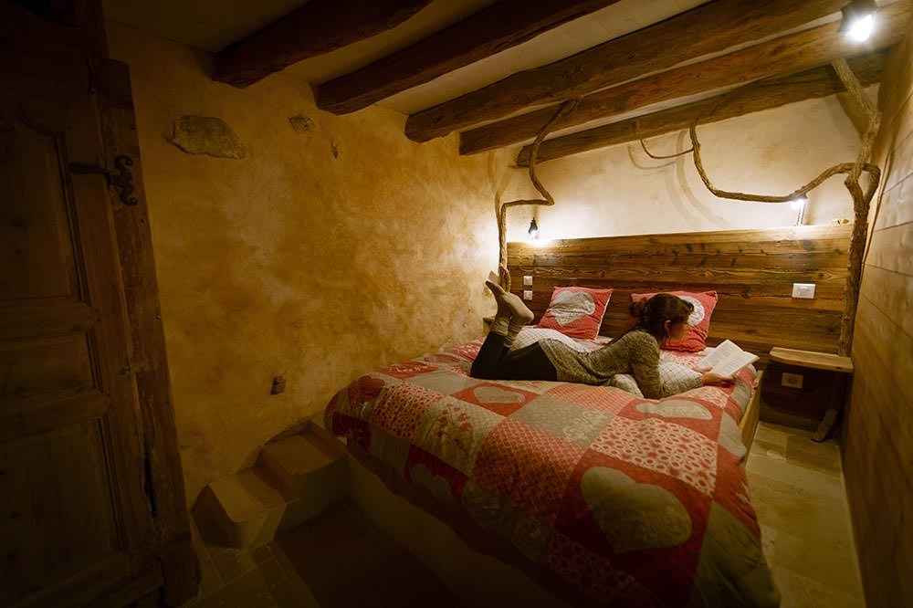 chambre intérieur gite vercors à louer